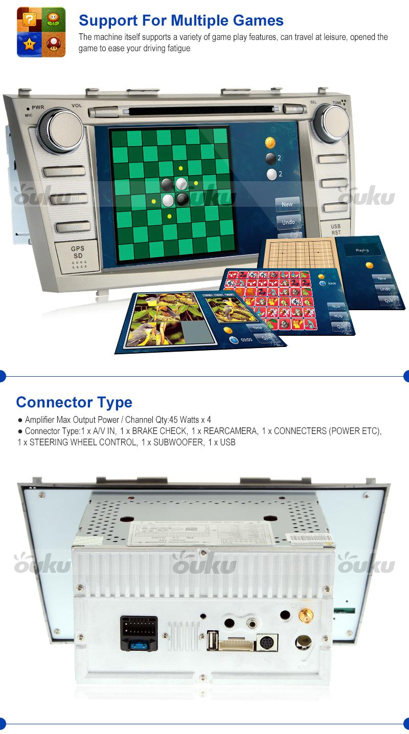 car dvd gps radio navigation 8 player for toyota camry 2007 2008 2009 2. Black Bedroom Furniture Sets. Home Design Ideas