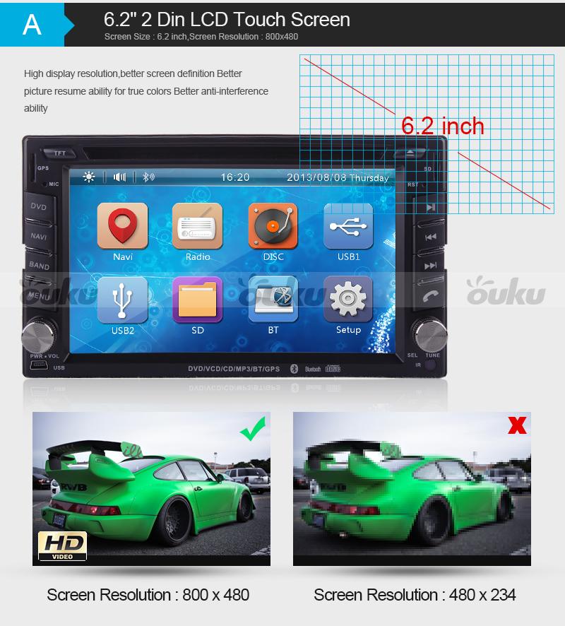 2 din voiture lecteur dvd lcd cran tactile bluetooth 3g gps navi radio ebay. Black Bedroom Furniture Sets. Home Design Ideas