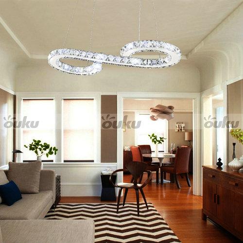 Led di cristallo moderna s lampadario a forma di soffitto della ...