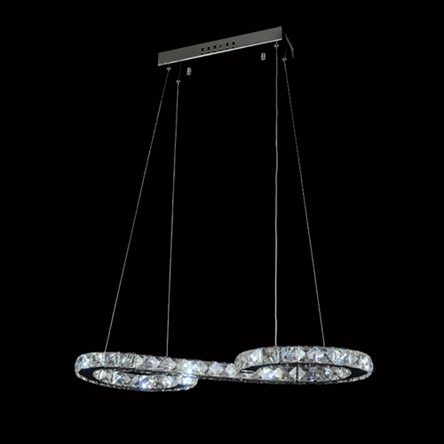 Crystal Modern Pendant Ceiling Light Chandelier Lamp: Modern Stylish LED Crystal Chandelier Chrome Ceiling Light