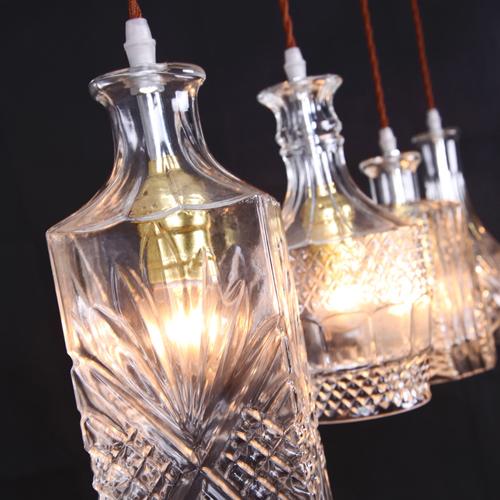 Elegant glass bottle ceiling lights vintage chandelier pendant light lighting ebay - Glass bottle chandelier ...