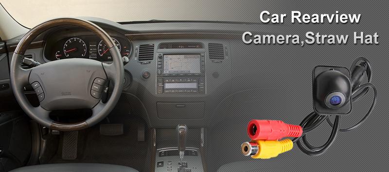 "Straw Camera 7"" HD LCD Touchscreen Car GPS DVD 1Din Player Radio Bluetooth iPod"
