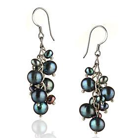 Women's 1 Drop Earrings Pearl Sterling Silver Silver Irregular Jewelry Costume Jewelry