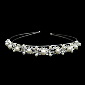 Gorgeous Crystals And Imitation Pearls Wedding Bridal Tiara/ Headpiece/ Headband
