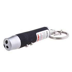 3-in-1 Red Laser White Light UV Light LED Flashlight Keychain (3LR44 Color Assorted)