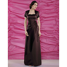 Sheath / Column Strapless Sweetheart Floor Length Satin Mother of the Bride Dress with Beading Side Draping by LAN TING BRIDE plus size,  plus size fashion plus size appare