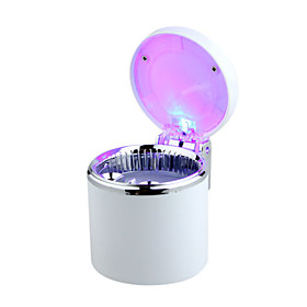 Mini Car Portable Cigarette Smokeless Ashtray With LED Light - lk-085