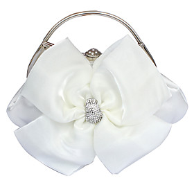 Image of Gorgeous Satin Evening Handbags/ Top Handle Bags More Colors Available