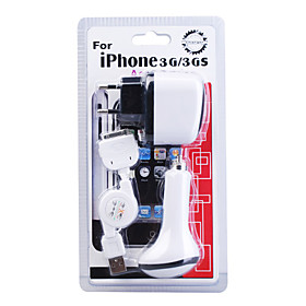 3-in-1 Mobile Charger Kit for iPhone 6 iPhone 6 Plus (AC Plug/Car Charger/USB Cable)