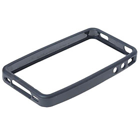 Protective PVC Shell Case Screen Guards/Cleaning Clothes/Stylus for iPhone 4 (Black)