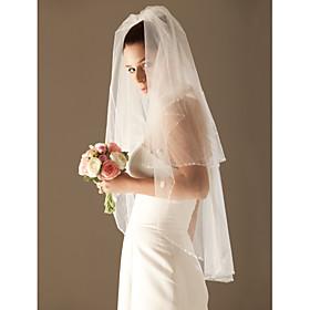 2 Layer Fingertip Wedding Bridal Veil