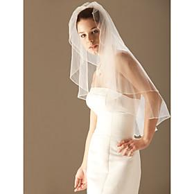 Two Layer Elbow Wedding Bridal Veil