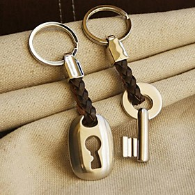 "Hemp Roped in Love"" Key Lock Keyring Set in Velvet Gift Bag"
