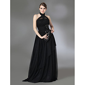 TS Couture Prom Formal Evening Military Ball Dress - Vintage Inspired Celebrity Style A-line Princess Halter High Neck Floor-lengthTulle plus size,  plus size fashion plus size appare