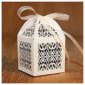 Paper Orchid Filigree Favor Box - Set of 12 (More Colors)