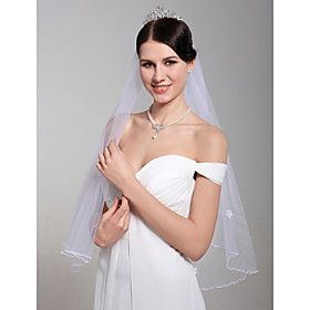 2 Layers Beautiful Elbow Wedding Veil