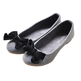 Fabric Upper Flat Heel Flats With Bowknot Casual/ Honeymoon Shoes (More Colors)