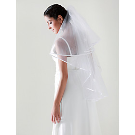 2 Layers Elbow Wedding Bridal Veil