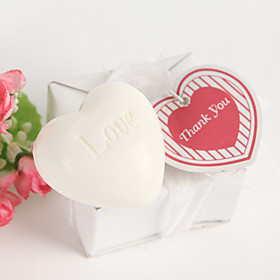 Heart Shaped Scented Soap Wedding Favor