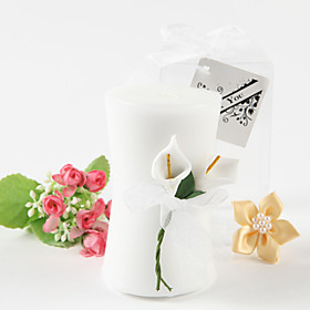 Calla Lily Elegance' Vase Shaped Candle Favors Wedding Favors