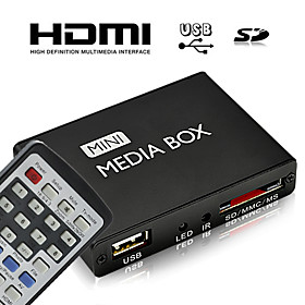 Discount Electronics On Sale HD Mini Multi-Media Player with Remote Control, HDMI Output