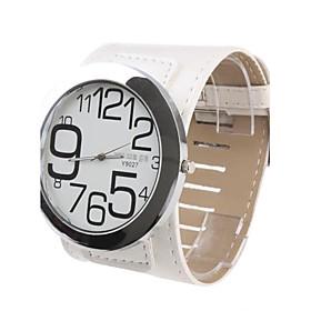 Cool Girl Damen Uhr mit weiem Ziffernblatt und weiem Armband