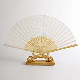 White Bamboo Hand Fan (set of 4)