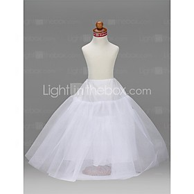 Slips A-Line Slip Ball Gown Slip Floor-length 3 Tulle Netting Taffeta White