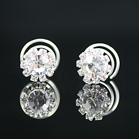 2 Pieces Gorgeous Rhinestones Bridal Pins Party/ Special Occasion Headpieces 233475