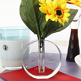 Personalized Crystal Round Vase