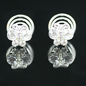 2 Pieces Gorgeous Rhinestones Bridal Pins Wedding/ Party Headpieces 233477