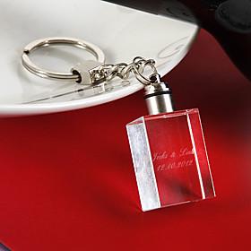 kristal Keychain Favors Stuk / Set Sleutelhangers Klassiek Thema Gepersonaliseerd Wit