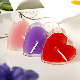 Heart Design Small Candle(set of 6) 236568