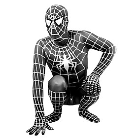 Zentai Suits Super Heroes / Spider / Movie/TV Theme Costumes Lycra Print / Patchwork Black Unisex 246549