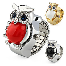 Cute Owl Case Metal Ring Watch Cool Watches Unique Watches