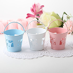 Favor Pail With Baby Carriage Cutout - Set of 12 (More Colors)