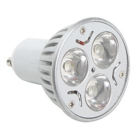 GU10 3W 270LM 6000-6500K Natural White Light LED Spot Bulb (85-265V)