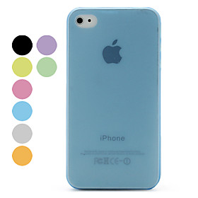 02mm Slim Frosted Protective Case for iPhone 4 and 4S Assorted Colors