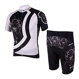 100% Polyester and Quick Dry Mens Cycling Short Suits (Panther)