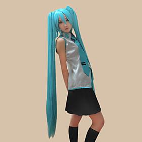Cosplay Pruiken Vocaloid Hatsune Miku Blauw Extra Lang / Recht Anime/ Computer Games Cosplay Pruiken 120 CM Hittebestendige vezel