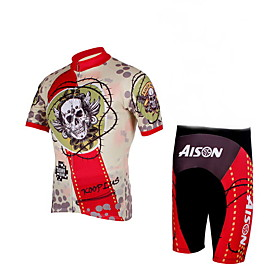 100% Polyester and Quick Dry Mens Cycling Short Suits (Skull)