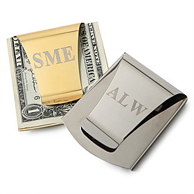 Gift Groomsman Personalized Smart Card Slot Money Clip (More colors)