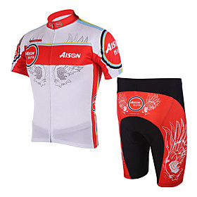 100% Polyester and Quick Dry Mens Cycling Short Suits (Red Wing)