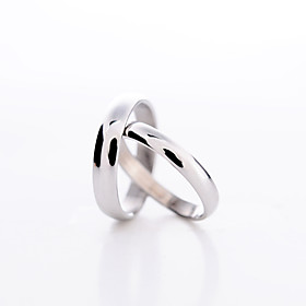 Ringen Stelletjes Platina Verguld Platina Verguld Liefde 6 / 7 / 8½ / 10 / 11 ZilverKleur  stijl vertegenwoordiging kan variëren door