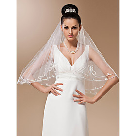One-tier Tulle Elbow Length Veil