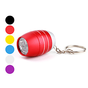 Barrel Shape 6 LEDs Keychain Flashlight