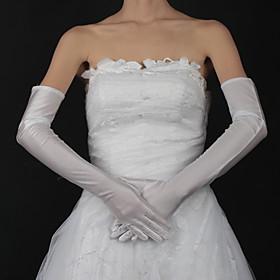 Opera Length Fingertips Glove Satin Bridal Gloves Spring Summer Fall Winter