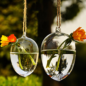 Table Centerpieces Artistic Hanging Water Drop Shaped Glass Vase  Table Deocrations
