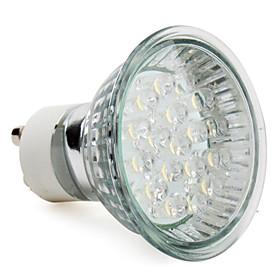1.5W 60-80 lm GU10 LED Spotlight MR16 18 leds High Power LED Warm White AC 220-240V