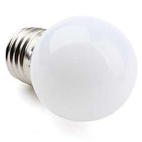 E27 1W 12x3528SMD 30LM 2700K Warm White Light LED Ball Bulb (220-240V)